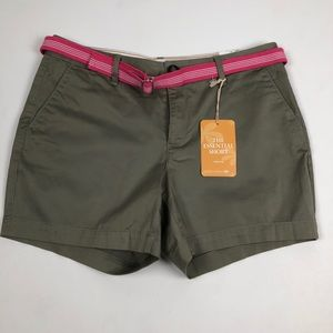 NWT Dockers Olive Green Chino Shorts Size …